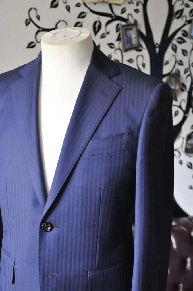 DSC0172-6 お客様のスーツの紹介-Biellesiネイビーヘリンボーンスーツ-