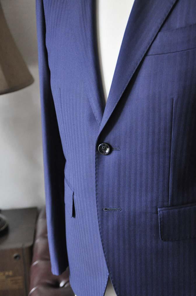 DSC0173-4 お客様のスーツの紹介-Biellesiネイビーヘリンボーンスーツ-