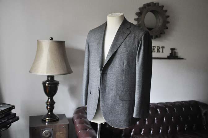 DSC0174-3 お客様のジャケットの紹介- Loro Piana Dream Tweed グレージャケット-