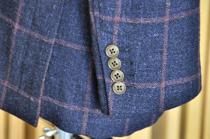 DSC0175 オーダージャケットの紹介-CANONICO ネイビーウィンドペン アンコンジャケット- 名古屋市西区那古野オーダースーツ専門店