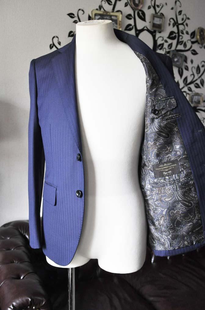 DSC0176-4 お客様のスーツの紹介-Biellesiネイビーヘリンボーンスーツ-