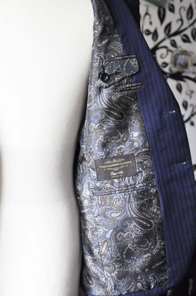 DSC0177-3 お客様のスーツの紹介-Biellesiネイビーヘリンボーンスーツ-