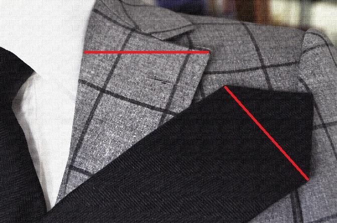 DSC01771 バランスのよいネクタイの太さとは??
