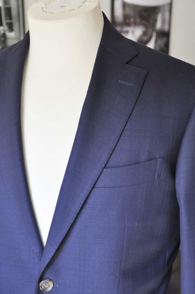 DSC01802 お客様のスーツの紹介- ネイビーチェックスーツ- 名古屋の完全予約制オーダースーツ専門店DEFFERT