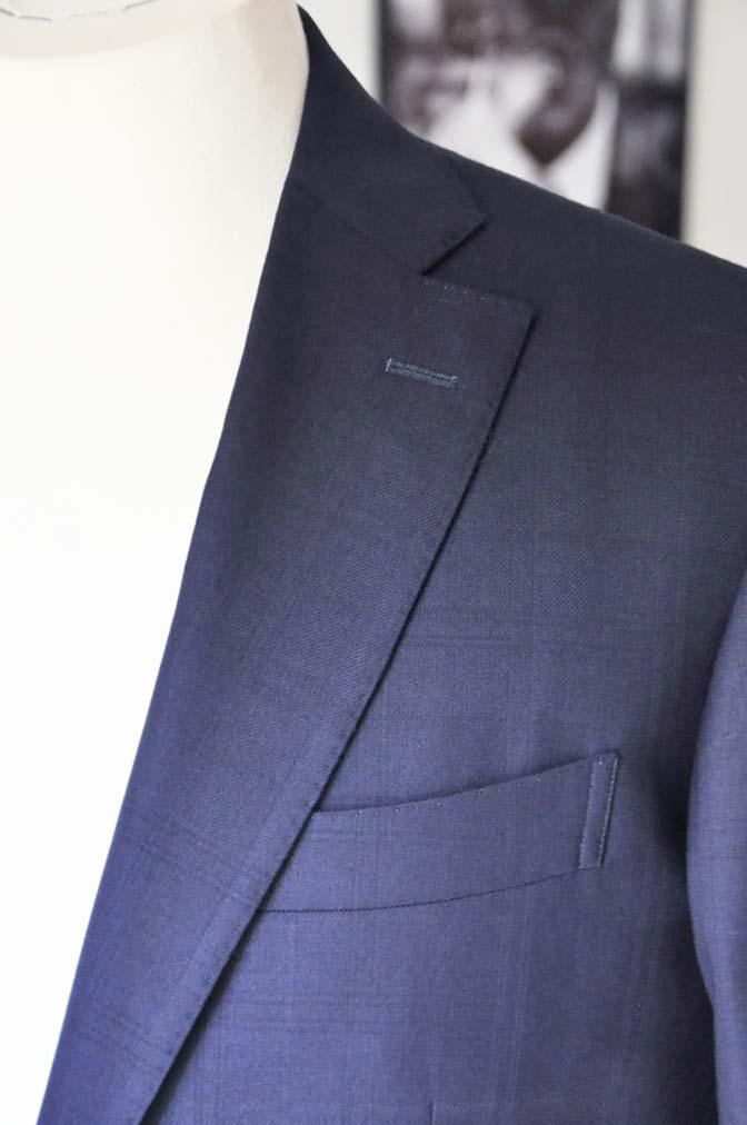 DSC01821 お客様のスーツの紹介- ネイビーチェックスーツ- 名古屋の完全予約制オーダースーツ専門店DEFFERT