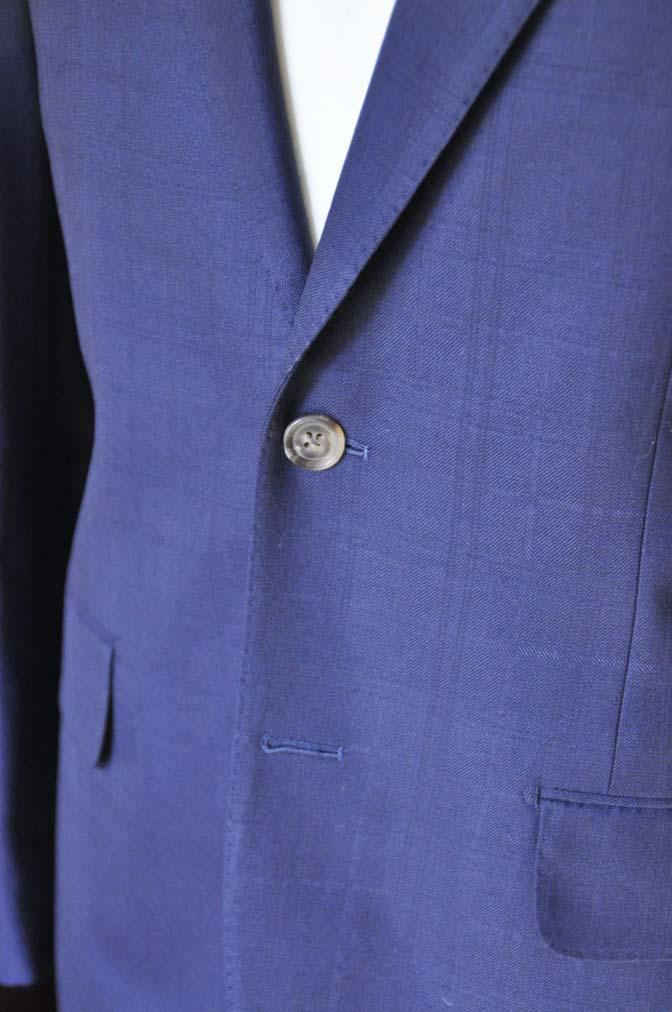 DSC01831 お客様のスーツの紹介- ネイビーチェックスーツ- 名古屋の完全予約制オーダースーツ専門店DEFFERT