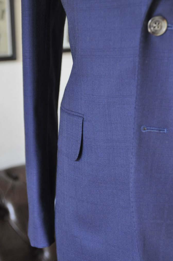 DSC01842 お客様のスーツの紹介- ネイビーチェックスーツ- 名古屋の完全予約制オーダースーツ専門店DEFFERT