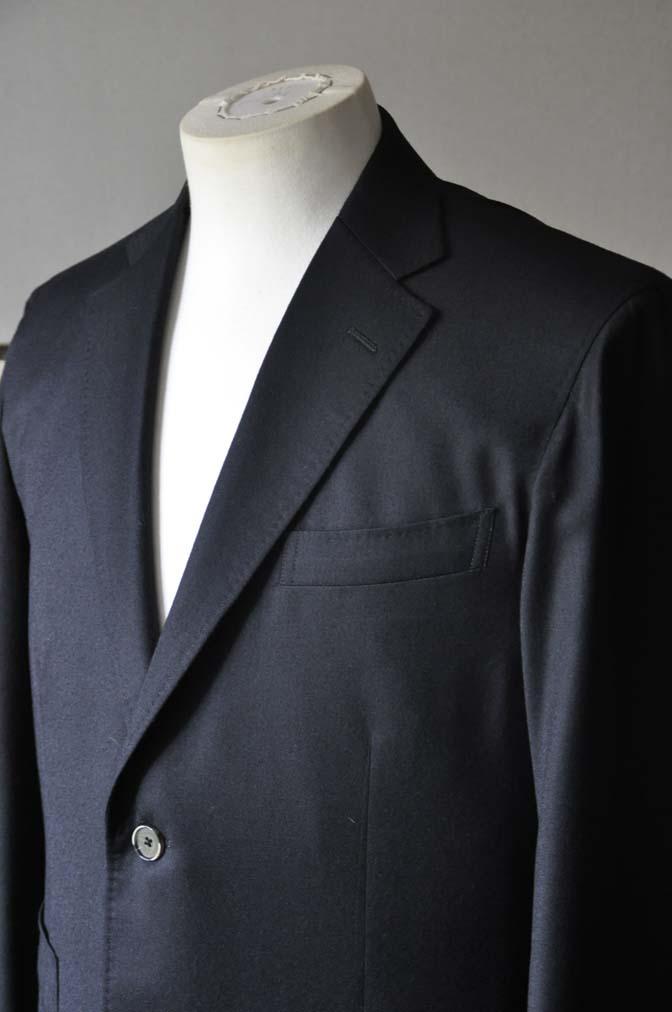 DSC0185-2 お客様のスーツの紹介- Biellesi 無地ブラックフランネルスーツ- 名古屋の完全予約制オーダースーツ専門店DEFFERT