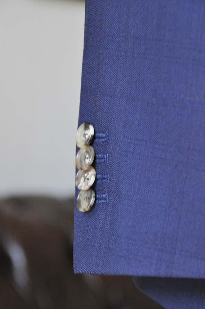 DSC01853 お客様のスーツの紹介- ネイビーチェックスーツ- 名古屋の完全予約制オーダースーツ専門店DEFFERT