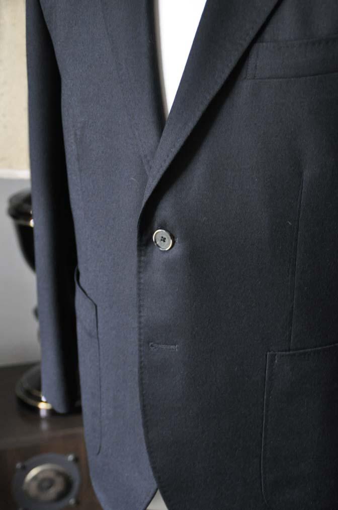 DSC0188-2 お客様のスーツの紹介- Biellesi 無地ブラックフランネルスーツ- 名古屋の完全予約制オーダースーツ専門店DEFFERT