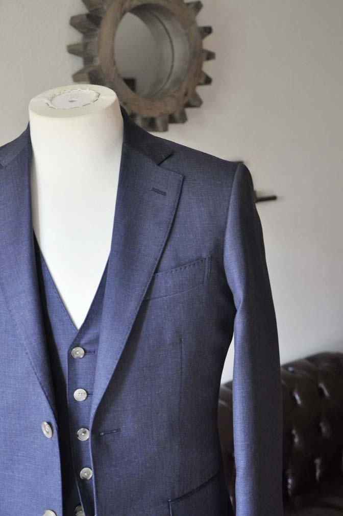 DSC0189-2 お客様のスーツの紹介- 御幸毛織 無地ネイビースリーピース-