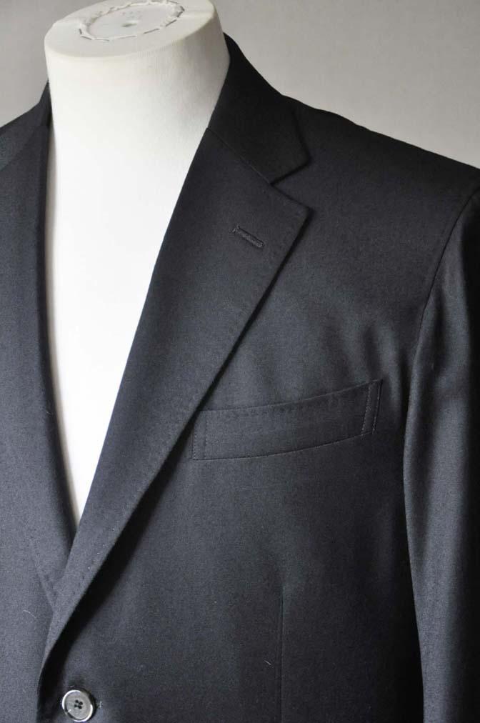 DSC0190-2 お客様のスーツの紹介- Biellesi 無地ブラックフランネルスーツ- 名古屋の完全予約制オーダースーツ専門店DEFFERT