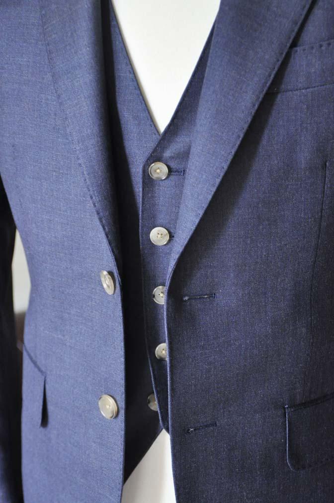 DSC0191-2 お客様のスーツの紹介- 御幸毛織 無地ネイビースリーピース-