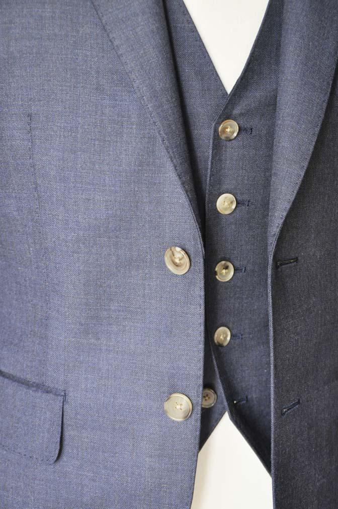 DSC0192-3 お客様のスーツの紹介- 御幸毛織 無地ネイビースリーピース-