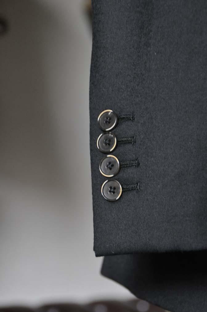 DSC0193-3 お客様のスーツの紹介- Biellesi 無地ブラックフランネルスーツ- 名古屋の完全予約制オーダースーツ専門店DEFFERT