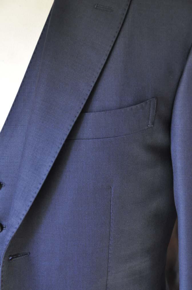 DSC0195-1 お客様のスーツの紹介- Canonico 無地ネイビースリーピース-