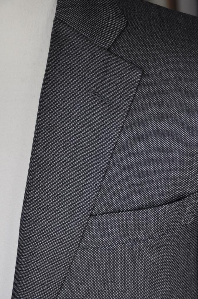DSC01962 お客様のスーツの紹介-御幸毛織 Box Collection グレーバーズアイ- 名古屋の完全予約制オーダースーツ専門店DEFFERT