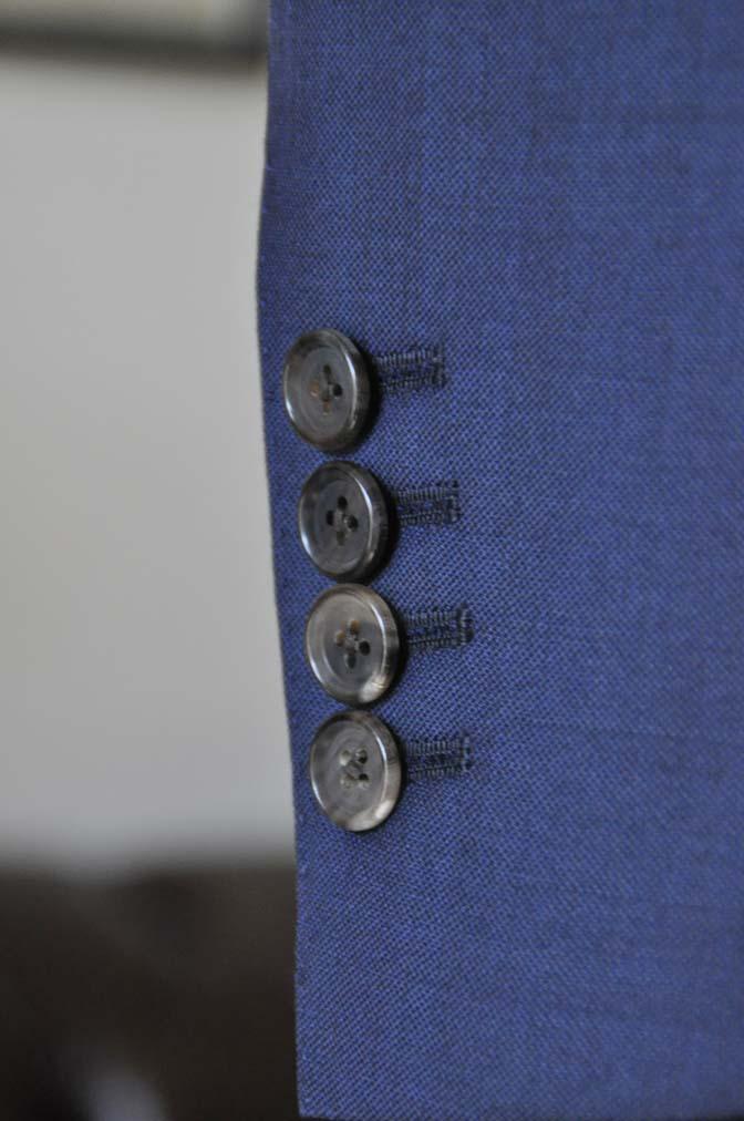 DSC0201-1 お客様のスーツの紹介- Canonico 無地ネイビースリーピース- 名古屋の完全予約制オーダースーツ専門店DEFFERT