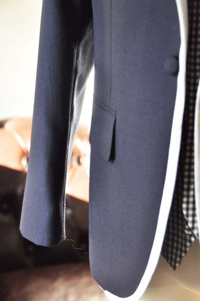 DSC0205-1 お客様のウエディング衣装の紹介- ネイビーパイピングジャケット、ギンガムチェックベスト- 名古屋の完全予約制オーダースーツ専門店DEFFERT