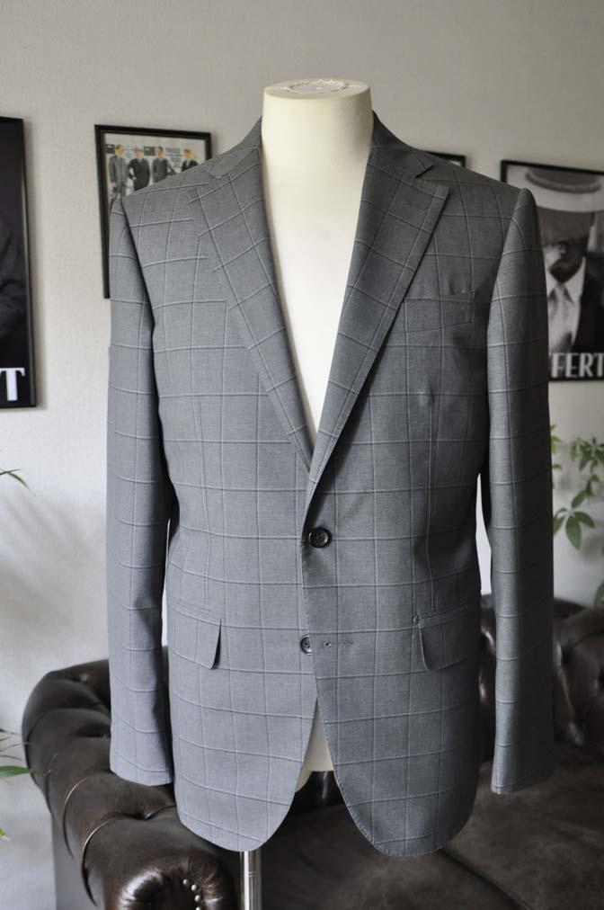DSC02063 お客様のスーツの紹介-TALLIA DI DELFINO グレーウィンドペン-