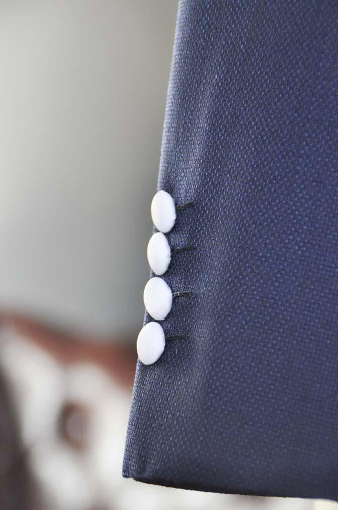DSC0208-1 お客様のウエディング衣装の紹介- ネイビーパイピングジャケット、ギンガムチェックベスト- 名古屋の完全予約制オーダースーツ専門店DEFFERT