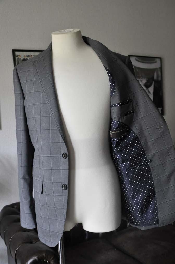 DSC02081 お客様のスーツの紹介-TALLIA DI DELFINO グレーウィンドペン-