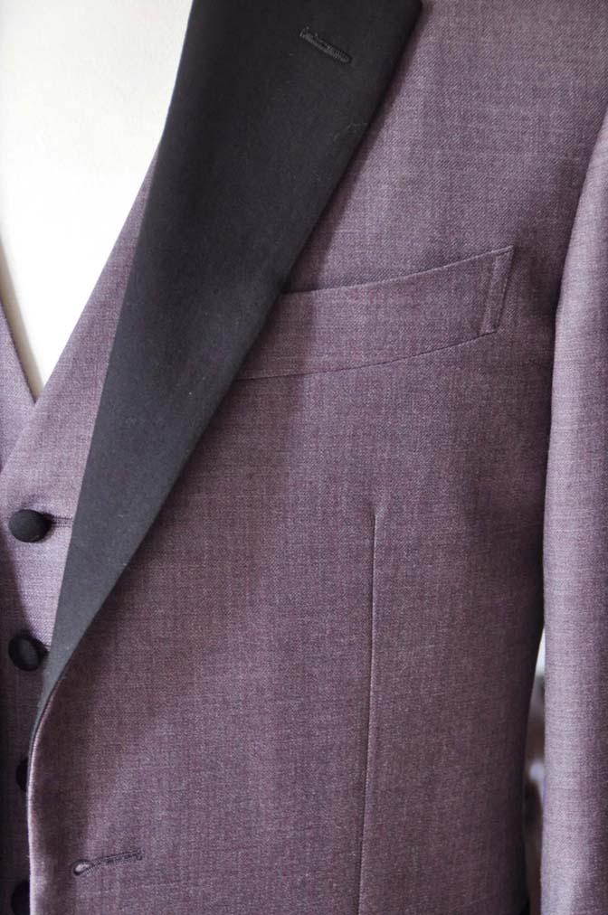 DSC0209-3 お客様のウエディング衣装の紹介- 御幸毛織 無地パープルタキシード- 名古屋の完全予約制オーダースーツ専門店DEFFERT