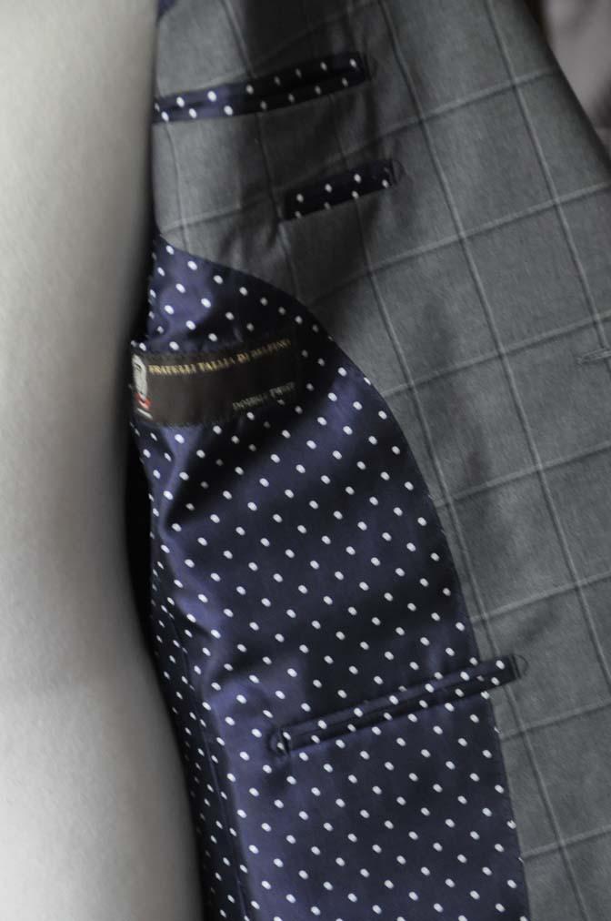 DSC02093 お客様のスーツの紹介-TALLIA DI DELFINO グレーウィンドペン-