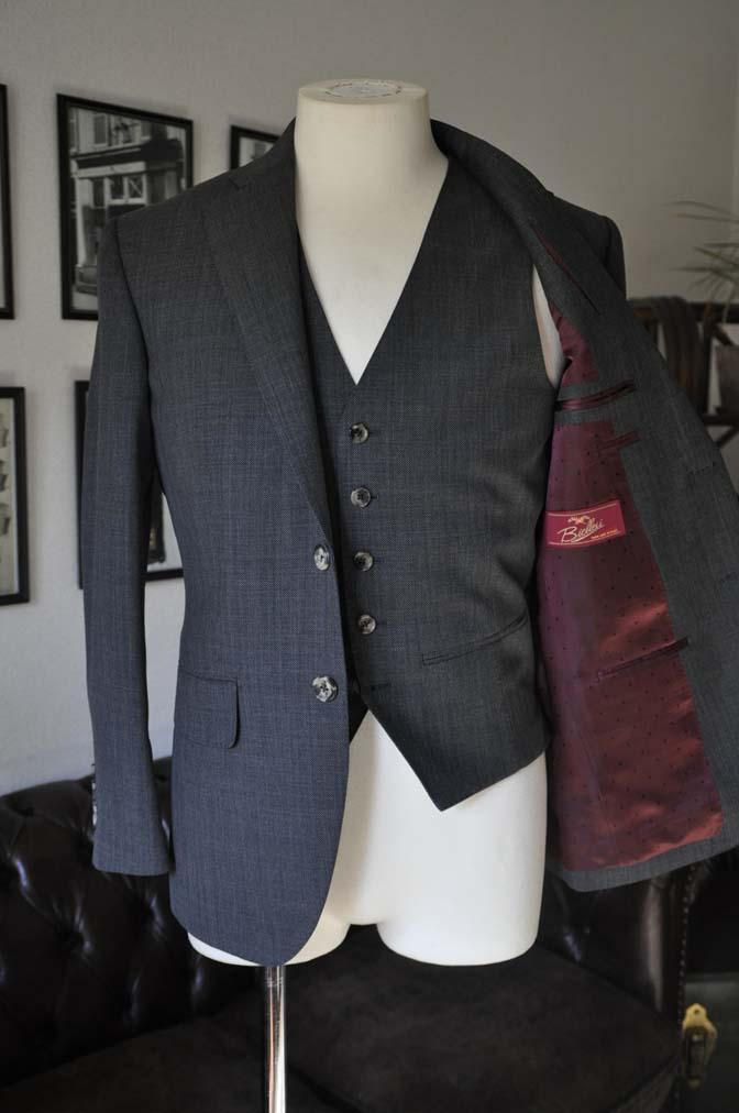 DSC02094 お客様のスーツの紹介- Biellesi グレーバーズアイ-