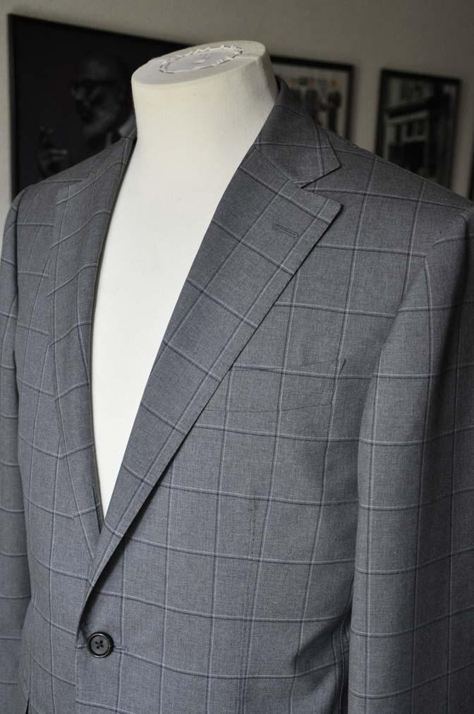 DSC02103 お客様のスーツの紹介-TALLIA DI DELFINO グレーウィンドペン-