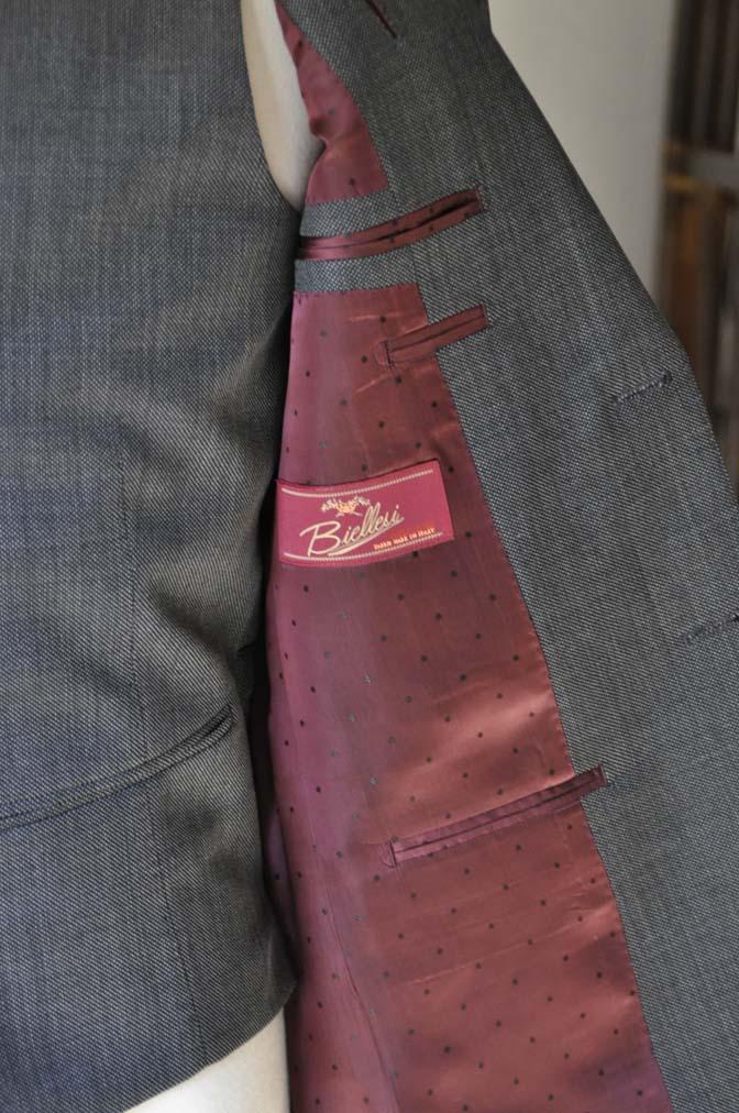 DSC02104 お客様のスーツの紹介- Biellesi グレーバーズアイ-