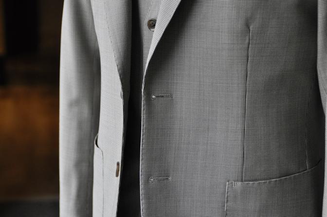 DSC0211-5 オーダージャケット・ベスト、パンツの紹介-Biellesiブラウン千鳥格子ジャケット・ベスト、ブラウンパンツ-