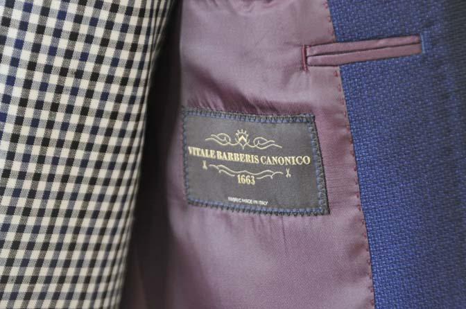 DSC0212-1 お客様のウエディング衣装の紹介- ネイビーパイピングジャケット、ギンガムチェックベスト- 名古屋の完全予約制オーダースーツ専門店DEFFERT