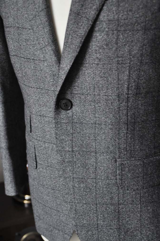 DSC0212-2 お客様のスーツの紹介- Loro Piana Dream Tweed グレーウィンドペン- 名古屋の完全予約制オーダースーツ専門店DEFFERT