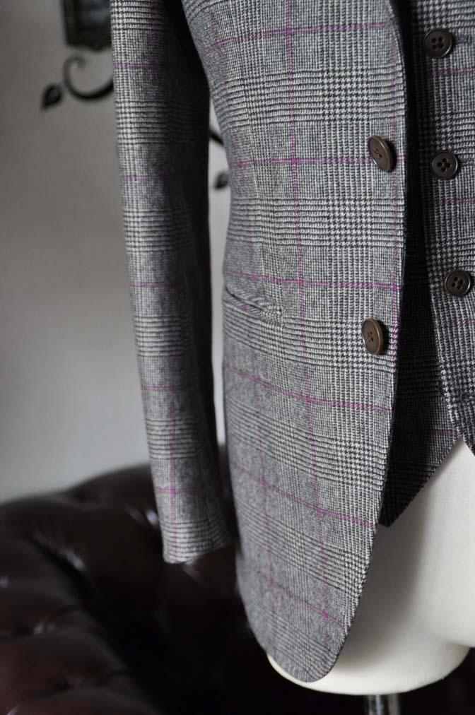 DSC0212-4 私のスーツの紹介-CARLO BARBERA クリームフランネル グレンチェックスリーピース-