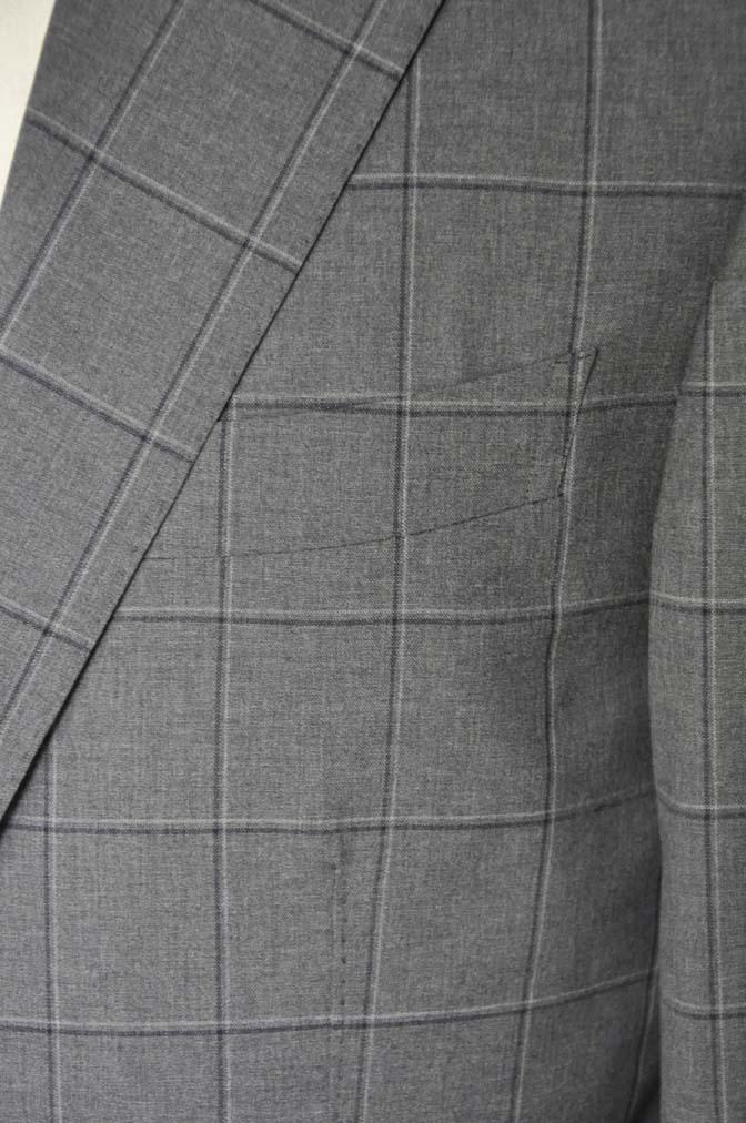 DSC02123 お客様のスーツの紹介-TALLIA DI DELFINO グレーウィンドペン-
