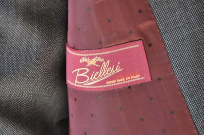 DSC02124 お客様のスーツの紹介- Biellesi グレーバーズアイ-