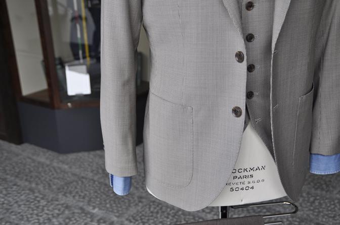 DSC0213-3 オーダージャケット・ベスト、パンツの紹介-Biellesiブラウン千鳥格子ジャケット・ベスト、ブラウンパンツ- 名古屋の完全予約制オーダースーツ専門店DEFFERT