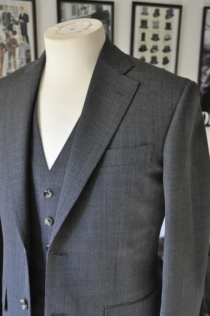 DSC02133 お客様のスーツの紹介- Biellesi グレーバーズアイ-