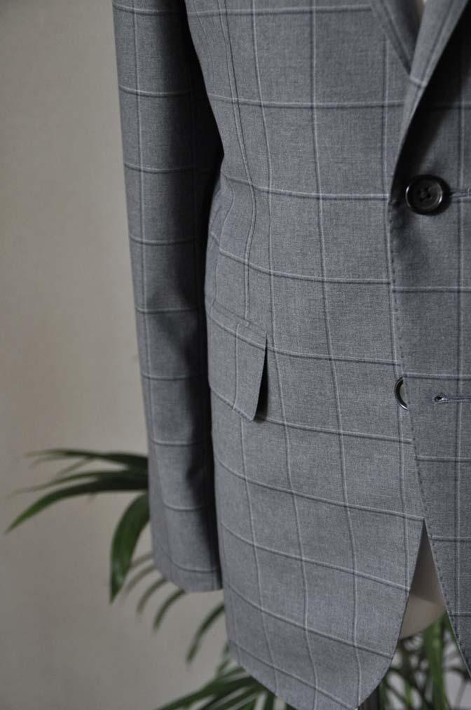 DSC0215 お客様のスーツの紹介-TALLIA DI DELFINO グレーウィンドペン-