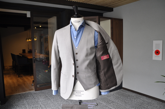 DSC0217-3 オーダージャケット・ベスト、パンツの紹介-Biellesiブラウン千鳥格子ジャケット・ベスト、ブラウンパンツ-