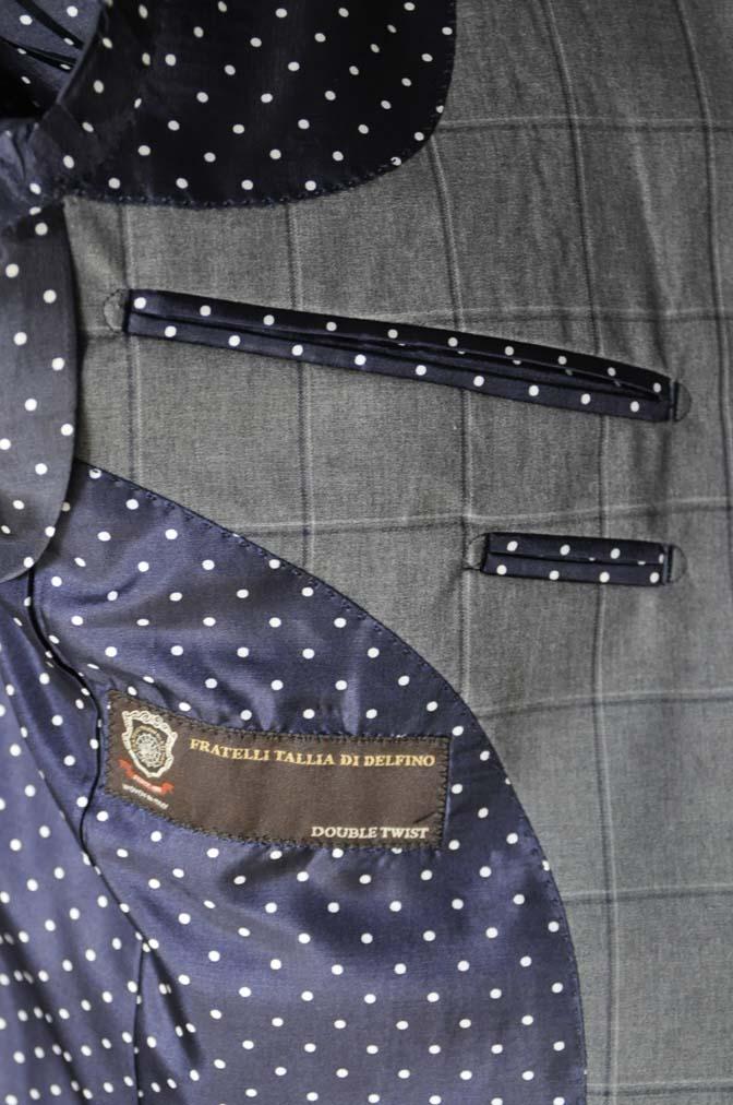 DSC02173 お客様のスーツの紹介-TALLIA DI DELFINO グレーウィンドペン-