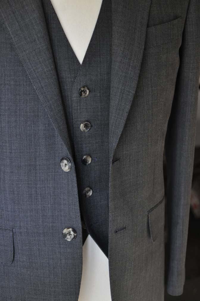 DSC02174 お客様のスーツの紹介- Biellesi グレーバーズアイ-