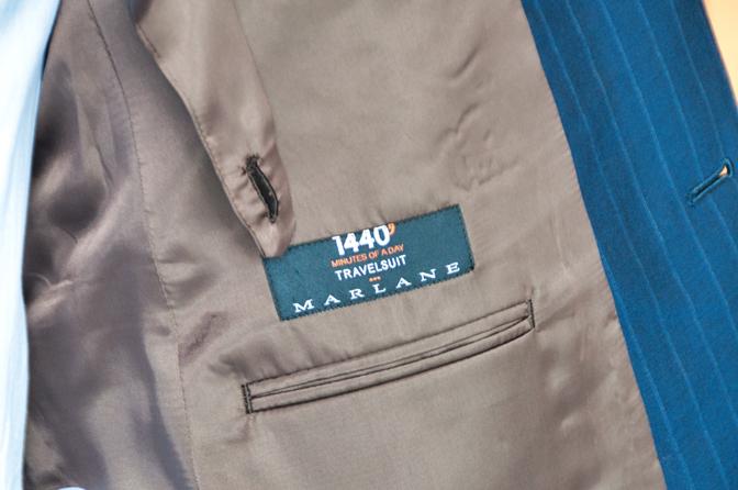 DSC0222 オーダースーツの紹介-MARLANE 1440ネイビーストライプ ダブルスーツ-