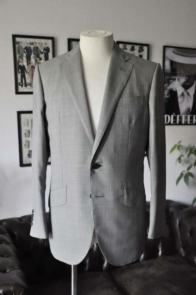 DSC02232 お客様のスーツの紹介-DORMEUIL Tropical Amadeus グレー千鳥格子 - 名古屋の完全予約制オーダースーツ専門店DEFFERT