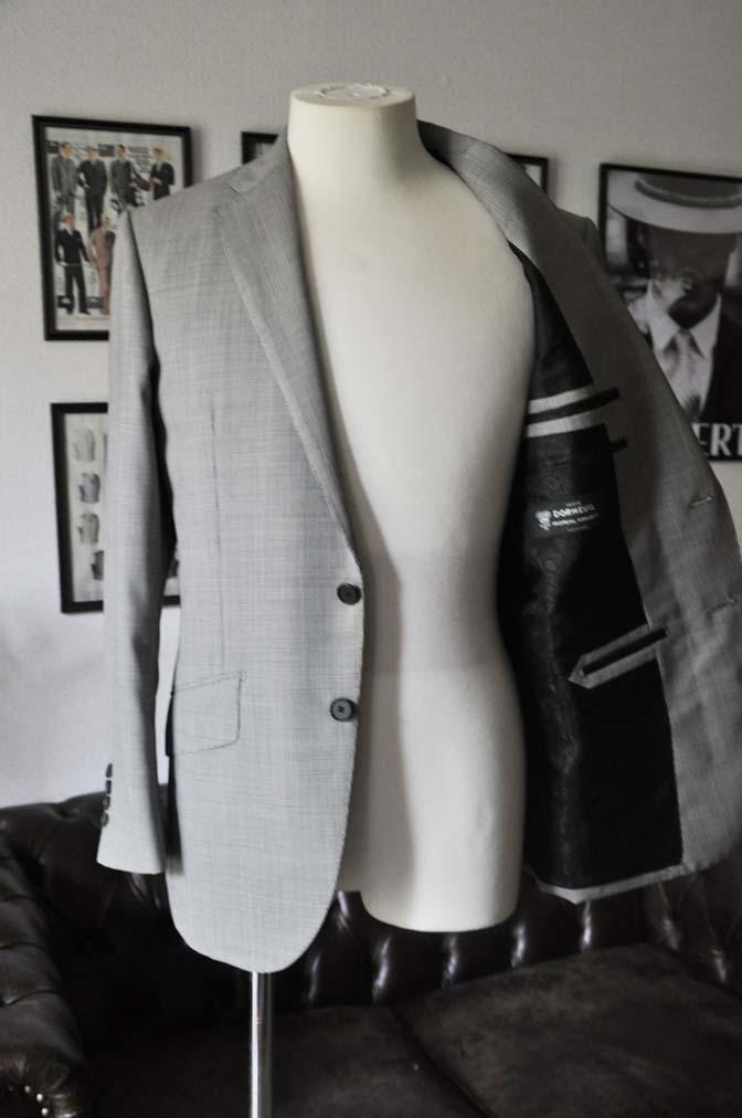 DSC02241 お客様のスーツの紹介-DORMEUIL Tropical Amadeus グレー千鳥格子 - 名古屋の完全予約制オーダースーツ専門店DEFFERT