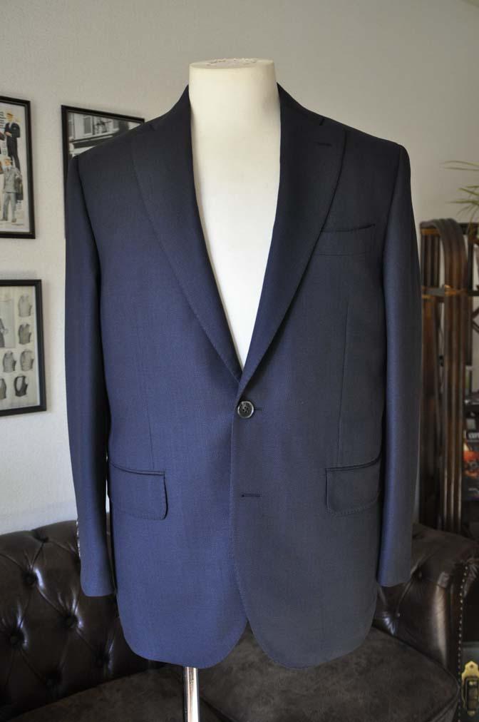 DSC0225-1 お客様のスーツの紹介- Biellesi ネイビーバーズアイ-