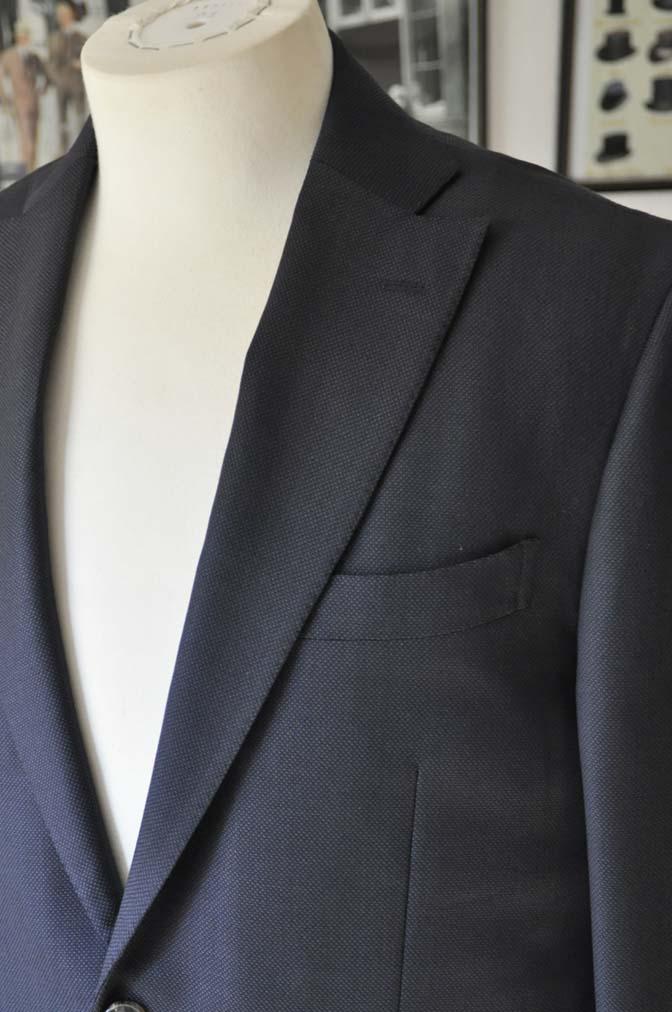 DSC0226-1 お客様のスーツの紹介- Biellesi ネイビーバーズアイ-