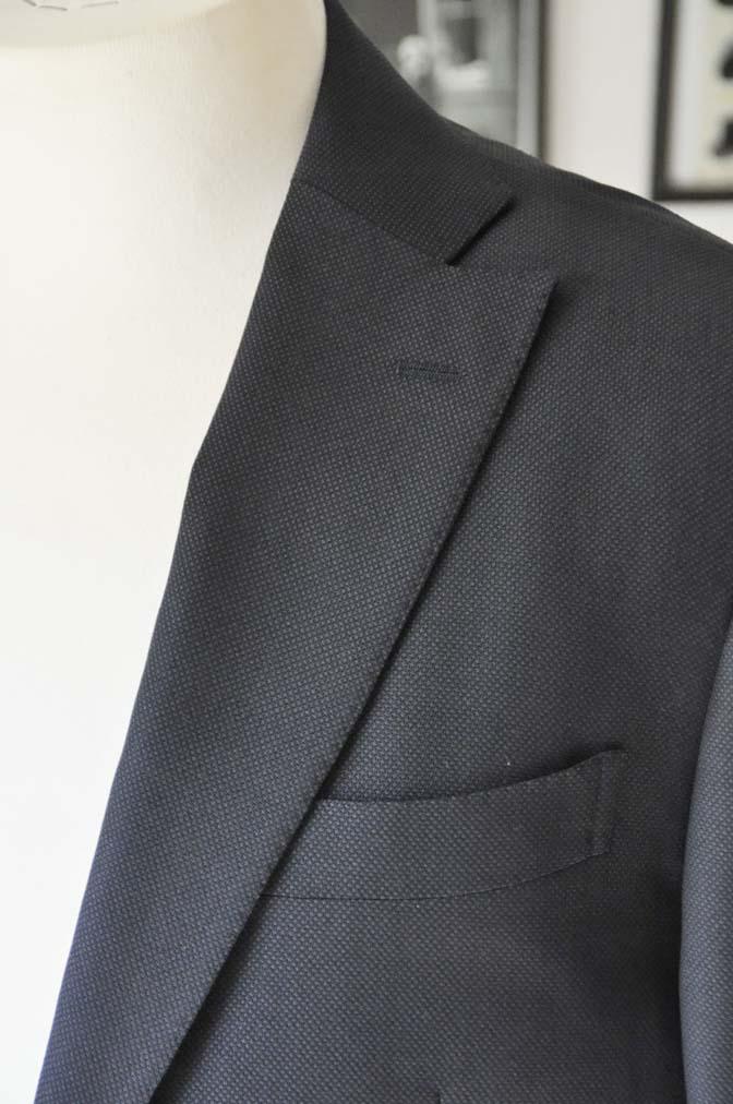 DSC0227-1 お客様のスーツの紹介- Biellesi ネイビーバーズアイ- 名古屋の完全予約制オーダースーツ専門店DEFFERT