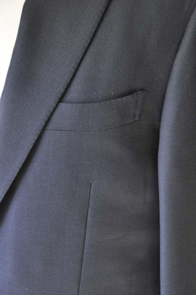 DSC0228-1 お客様のスーツの紹介- Biellesi ネイビーバーズアイ- 名古屋の完全予約制オーダースーツ専門店DEFFERT
